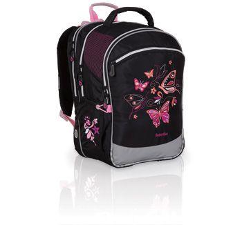 56203256ecca3 CHI 701- plecak szkolny od 1 do 5 klasy. Delikatny motyw motyli powoduje  uniwersalność plecaka