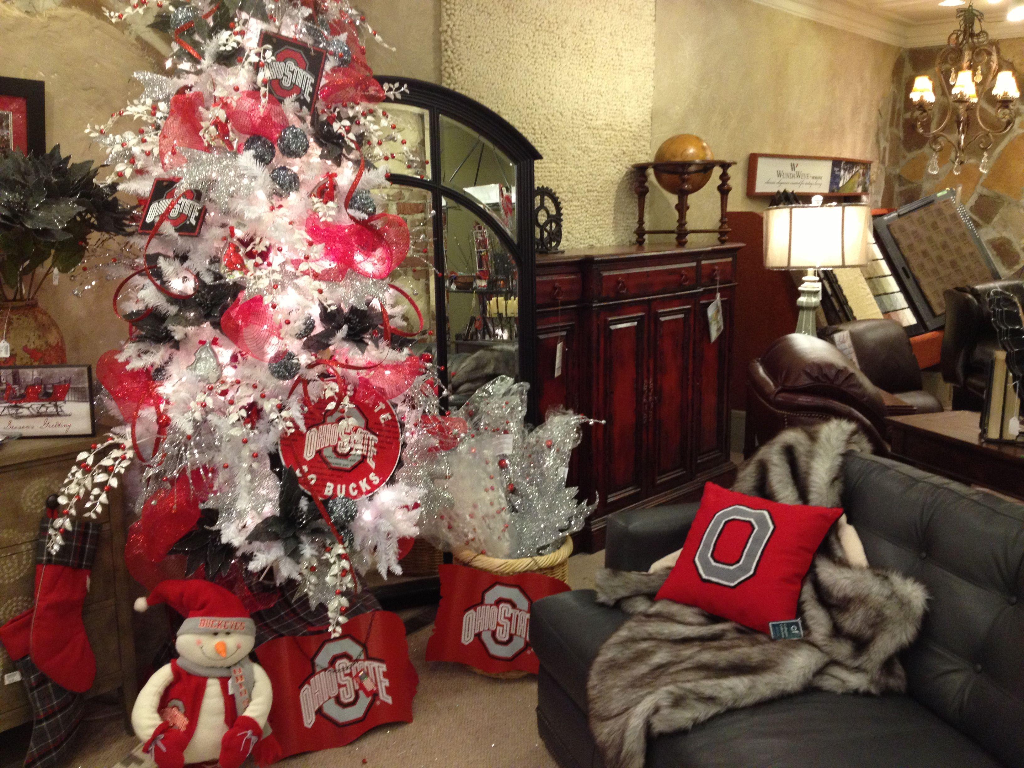 Ohio State Christmas tree and decor! | Fa La La | Pinterest | Ohio ...