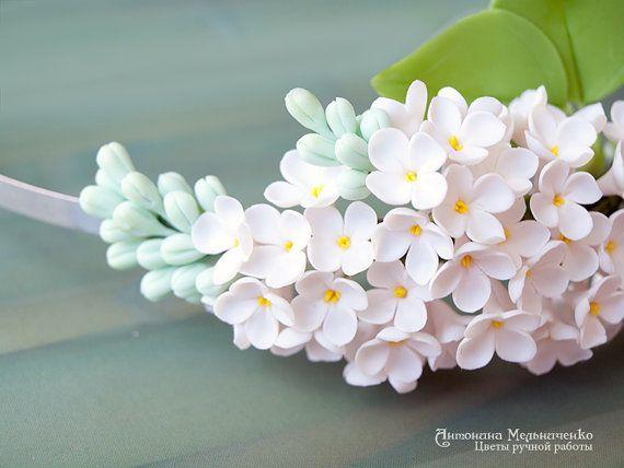 Hairband White Lilac by vakhara on Etsy