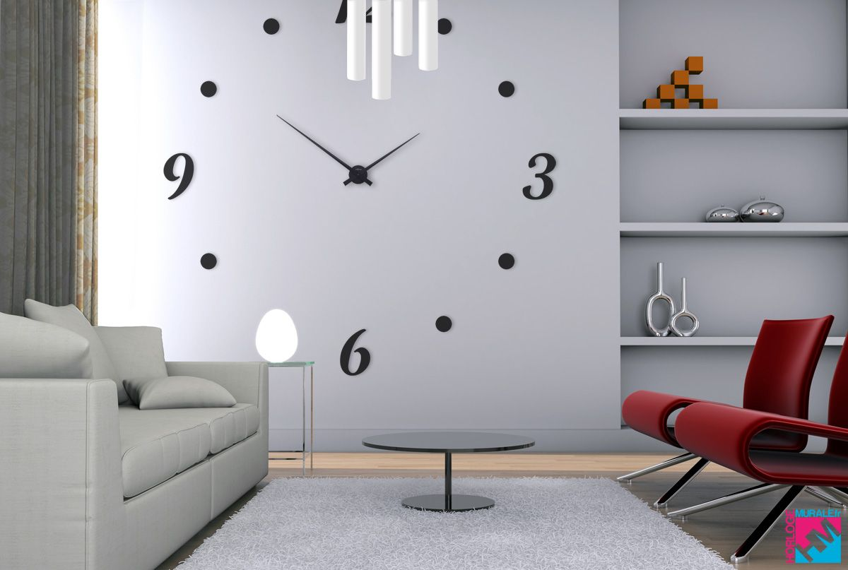 horloge murale geante. Black Bedroom Furniture Sets. Home Design Ideas