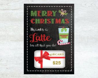photograph relating to Thanks a Latte Christmas Printable referred to as PRINTABLE Xmas Present Card Holder Due A Latte