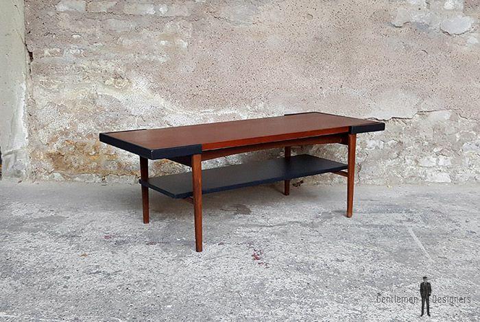 table basse r versible structure teck et plateau stratifi noir stratifi teck et plateau. Black Bedroom Furniture Sets. Home Design Ideas