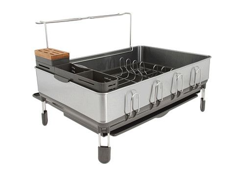 Best Simplehuman Steel Frame Dish Rack Stainless Steel Grey 400 x 300