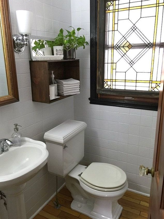 Updating the Powder Room With Painted Tile | Pinterest | Powder room ...