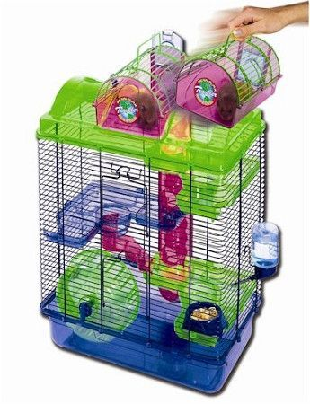 Large Here And There Hamster Cage Pet Mice Small Animal Cage