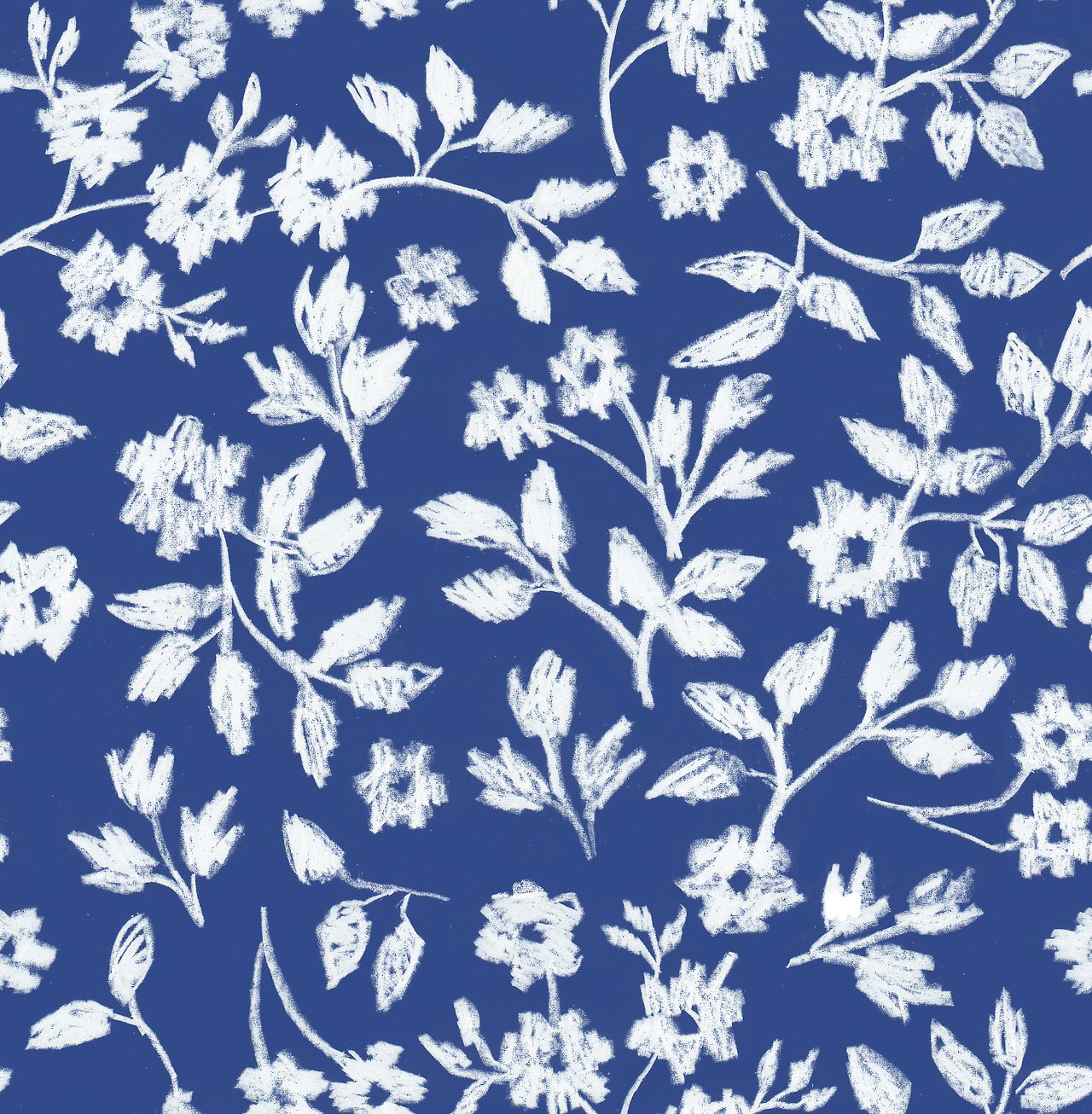 Pattern Repeat Surface Design Floral Modern Sketchy Texture Two Colour Flowers Floral Pattern Design Pattern Wallpaper Pattern Design