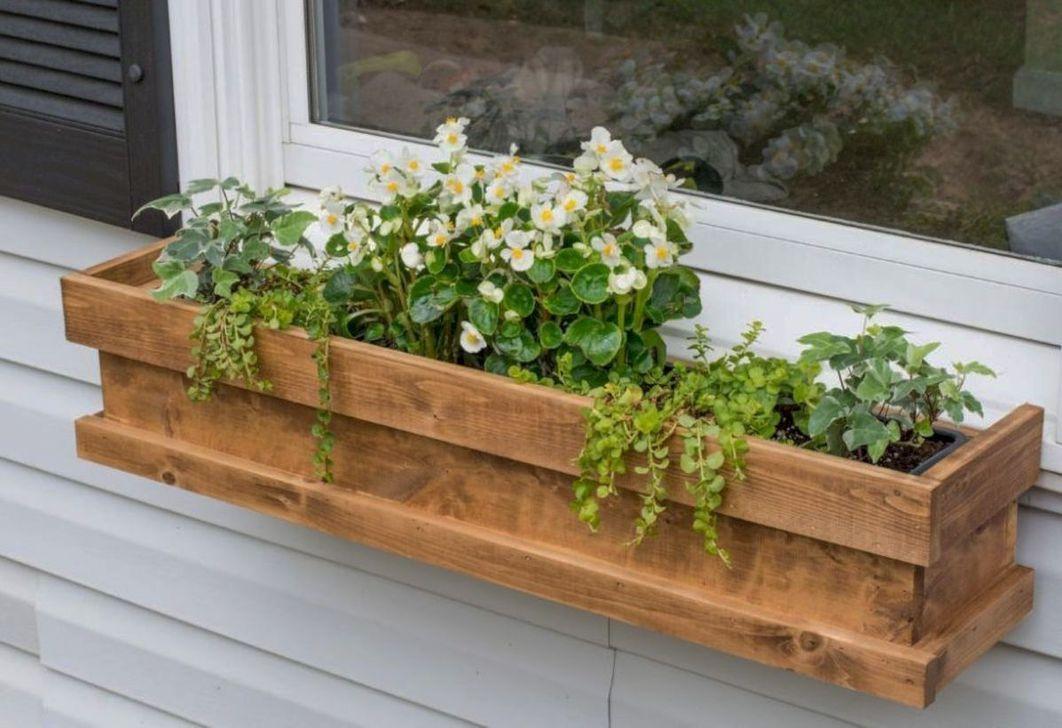 37 inspiring rustic wood planter boxes ideas window