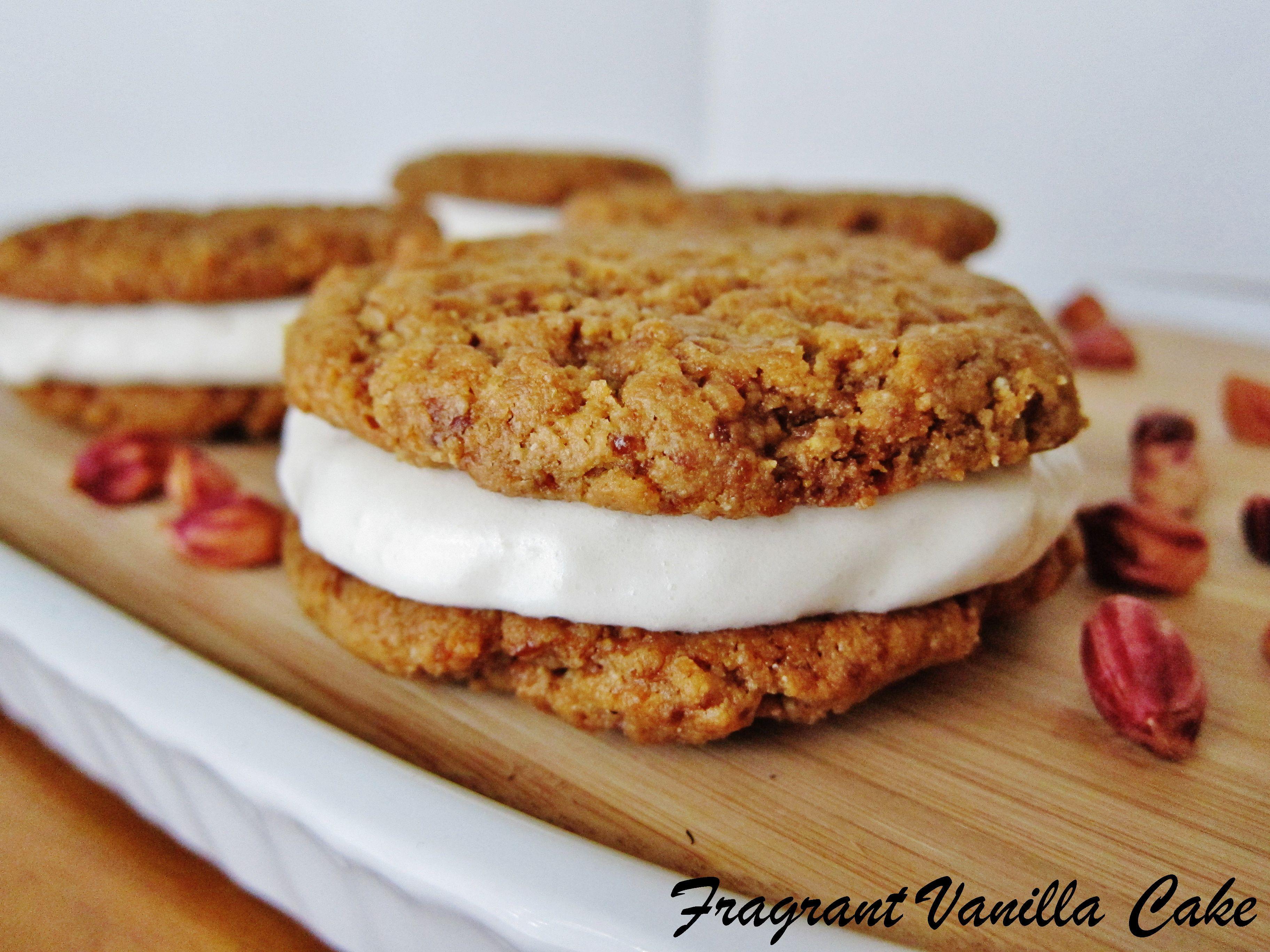 Vegan Fluffernutter Sandwich Cookies