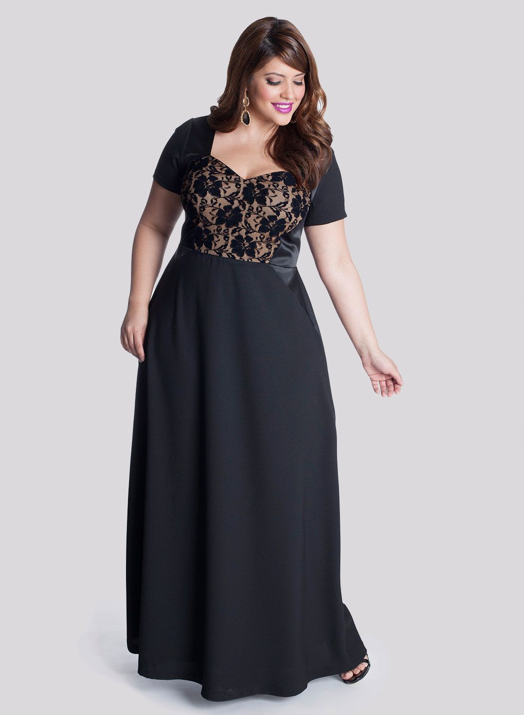 black evening gown in the top 10 plus size dresses to buy here