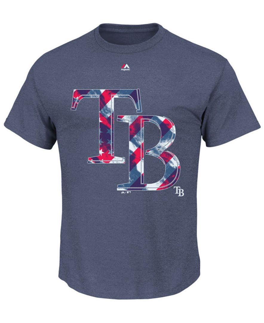 Majestic Men's Tampa Bay Rays Spirited Stripes T-Shirt