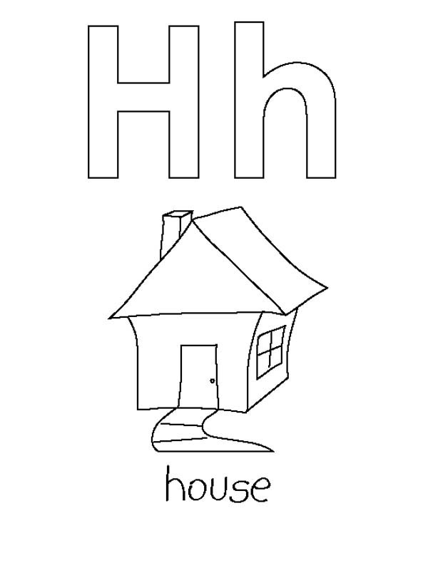 Letter H Is For House Coloring Page Bulk Color In 2020 House Colouring Pages Coloring Pages Free Coloring Pages