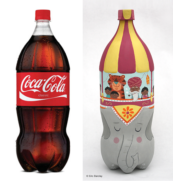 Transforming a Coke Bottle Into Art by Eric Barclay