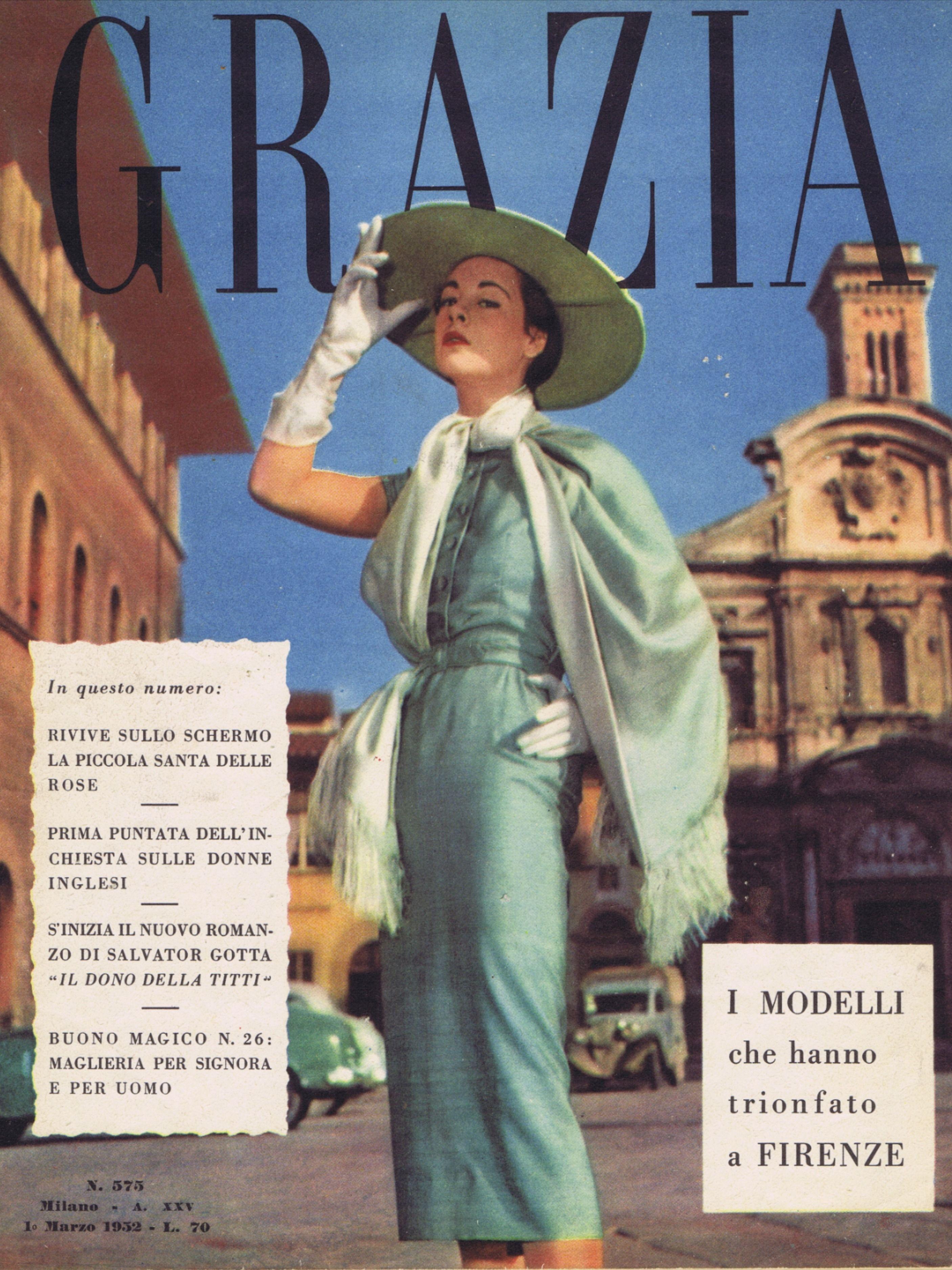 Grazia 1952 Fashion Magazine Italy Vintage Italian Etsy Magazine Wall Art Vintage Magazines Fashion Magazine