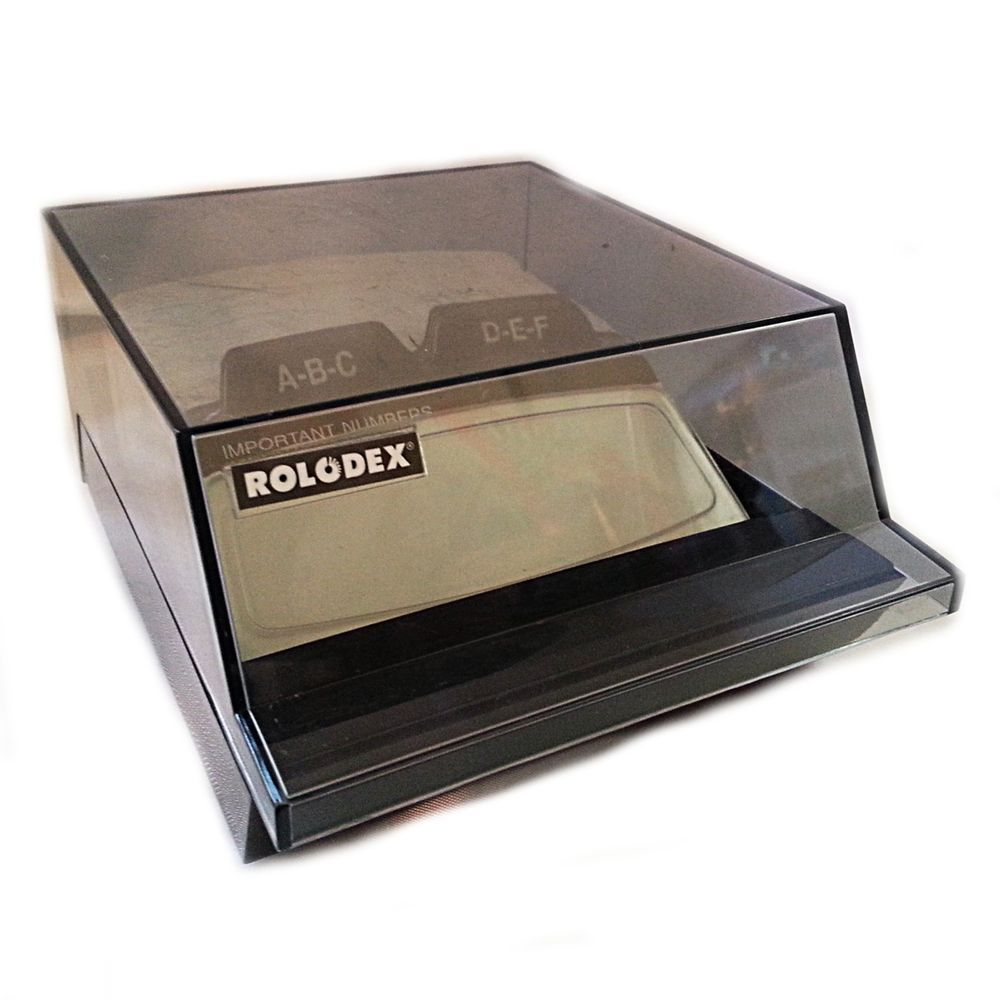 Rolodex S310C Business Card Organizer Small Vintage Desk Contact ...