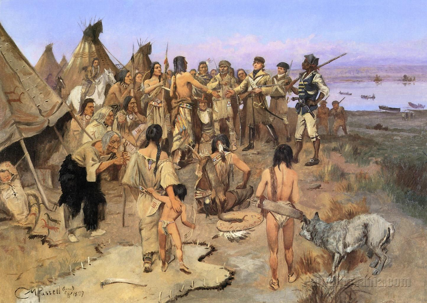 Capt William Clark Meeting The Indians Of The N W