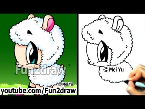 Mei Yu Fun2draw How To Draw Cute Animals Cartoon Sheep Fun2draw Animal Drawings Easy Cartoon Drawings