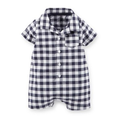 6fe355709271 Carter's® Plaid Cotton Romper - Baby Boys newborn-24m found at @JCPenney