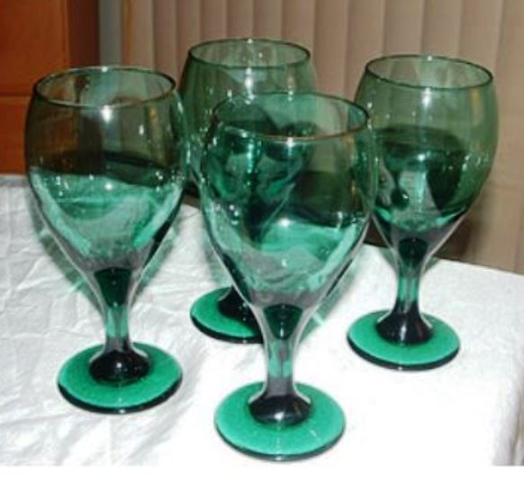 Anchor Hocking Emerald Green Goblets Glass Shades Of Green Wine Glass
