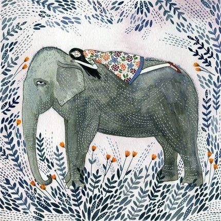'Elephant Dream' print by Yelena Bryksenkova  I like the leaves..