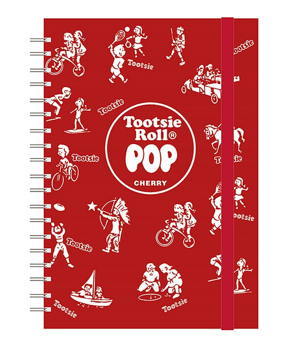 This Red Wrapper Tootsie Pop Spiral Notebook by Nestlé is perfect! #zulilyfinds