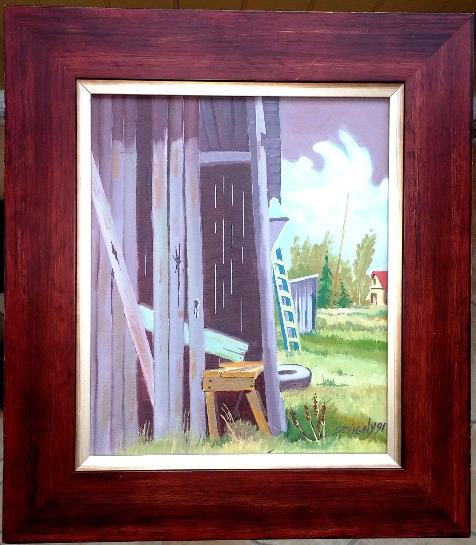 Comment Encadrer Une Toile jacques sevigny artist painter, painting 10 x 12 on canvas