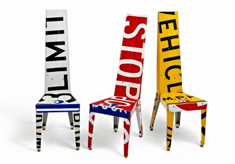 Urban Furniture Design Recycled Road Signs Boris Bally Contemporary Chairs  « Interior « Design Images,
