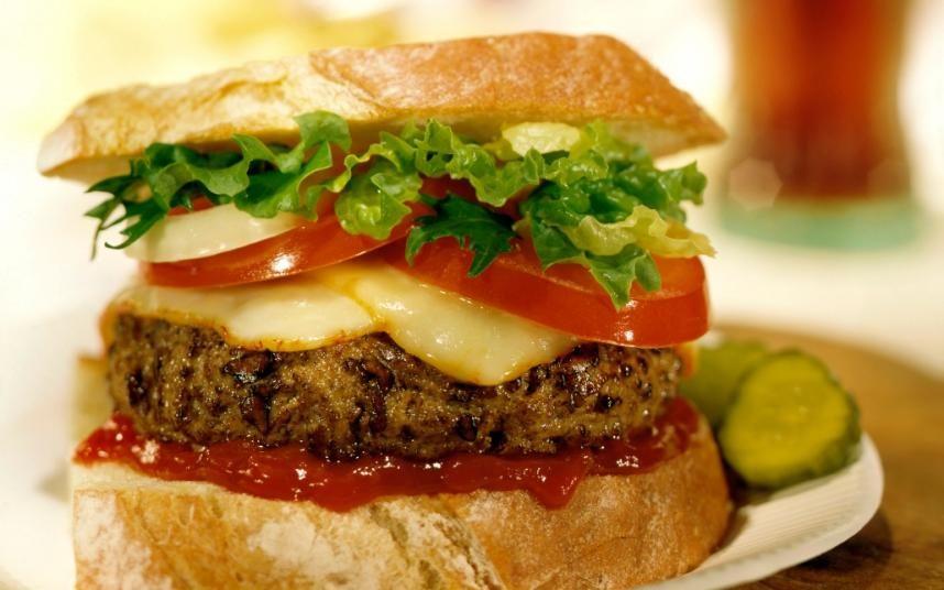 Perfect homemade beef burger