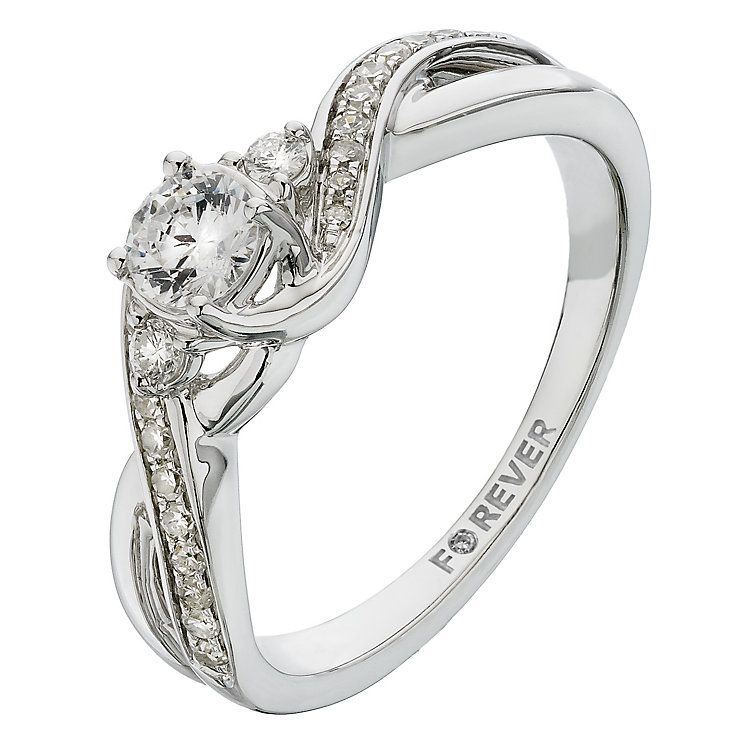 Choice 1 The Forever Diamond White Gold Carat Ring Product Number 2233584