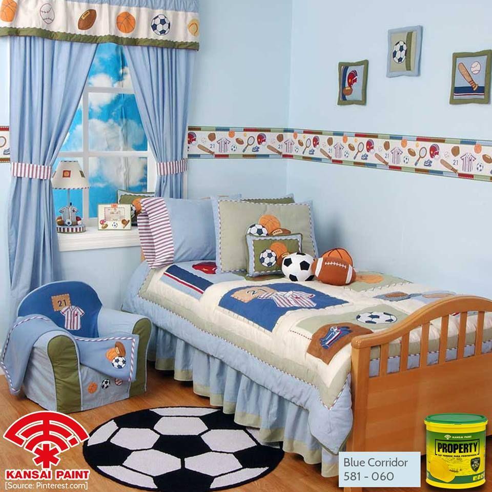 Bed cover my love anak - Fot My Baby Boy Ciptakan Nuansa Nyaman Pada Kamar Anak Dengan Menaplikasikan Warna Teduh