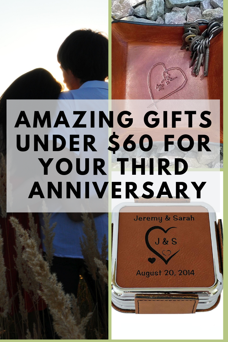 3rd wedding anniversary gifts under $60 | 3rd anniversary gifts