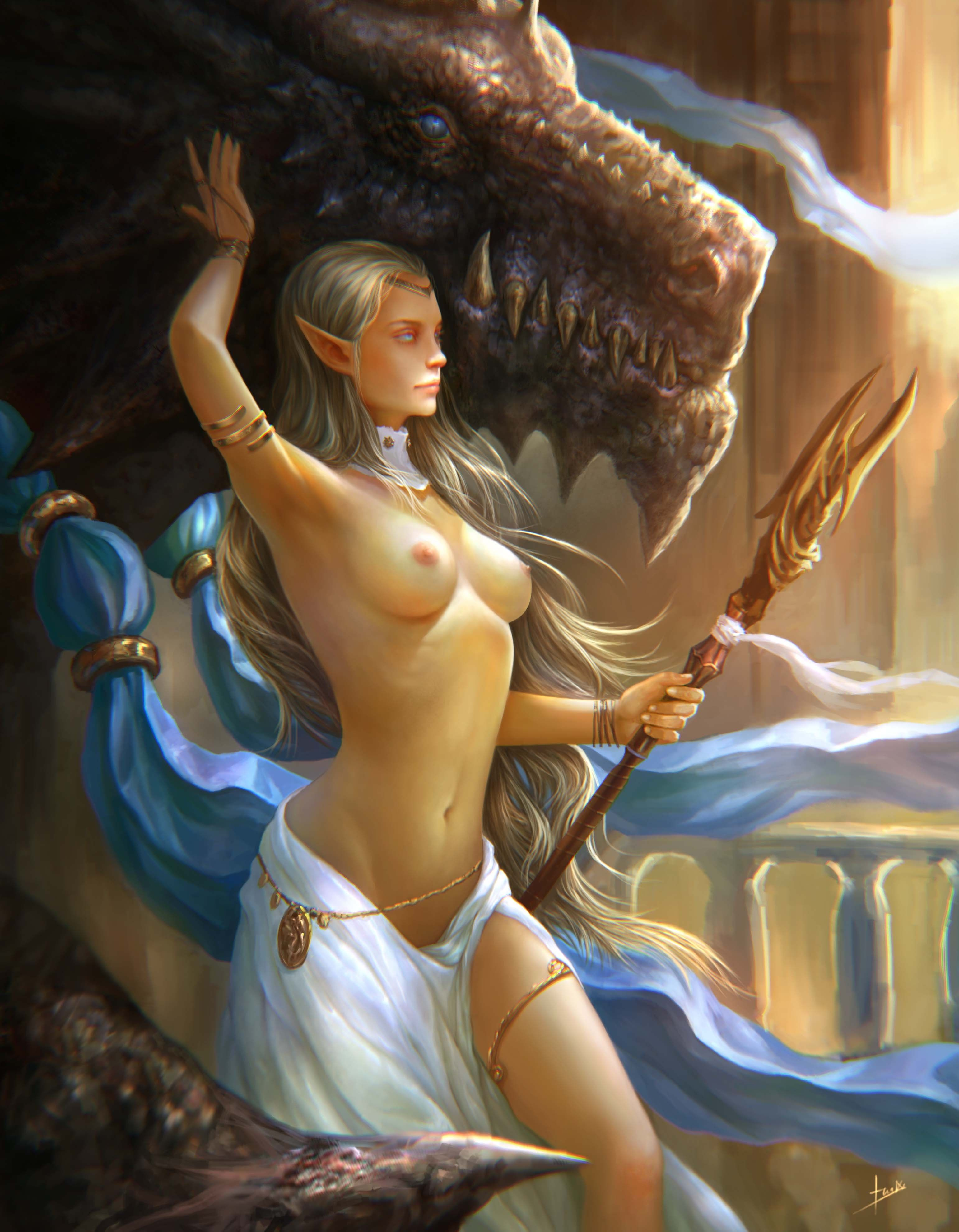Sexy fantasy art and illustration