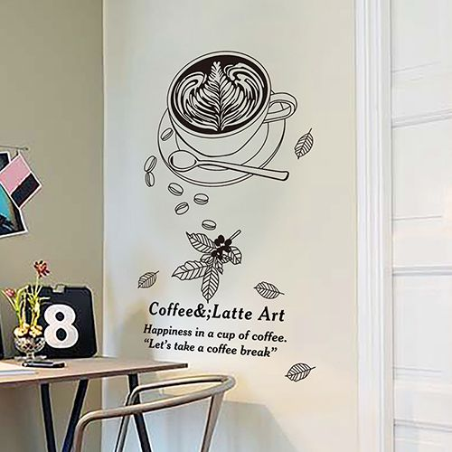 Kitchen Wall Stickers Tea Shop Decoration Can Remove The