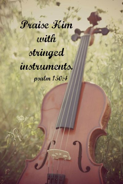 Versiculos De La Biblia De Animo: Psalm 150:4 Praise Him Stringed Instruments Art Print
