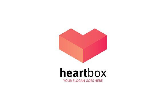 Heart Box Logo Letter L By Mlj Studios On Creativemarket Logo