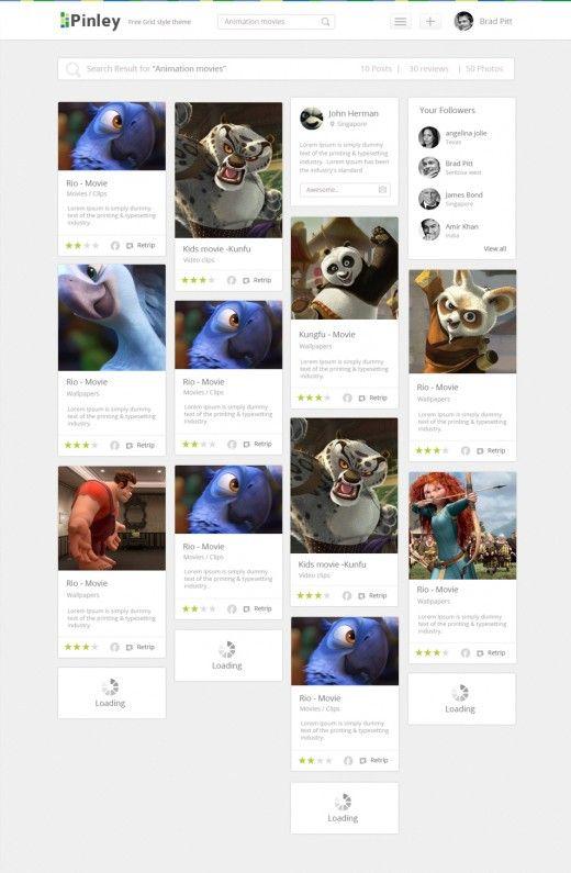 Free Grid Style Blog Template Design PSD – Freebie No: 117 | idea ...