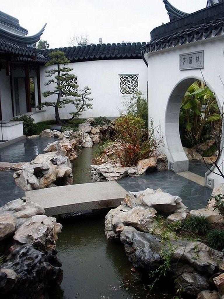 33+ Beautiful Backyard Gardening Ideas With Chinese Style