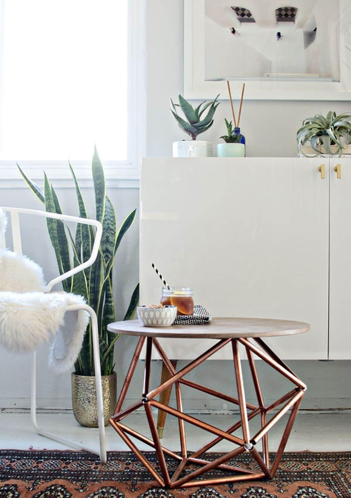 Room Geometric Mod Copper Side Table