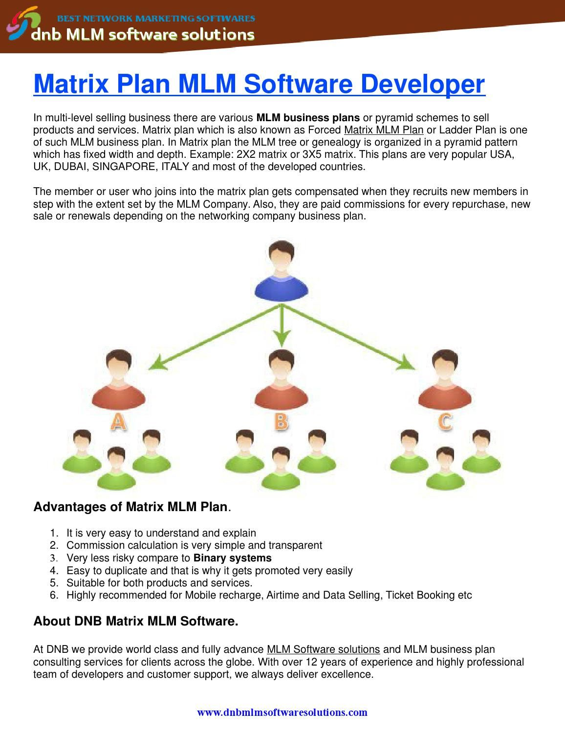 Dmlm Matrix Plan Mlm Software Developer Software - Mlm business plan template