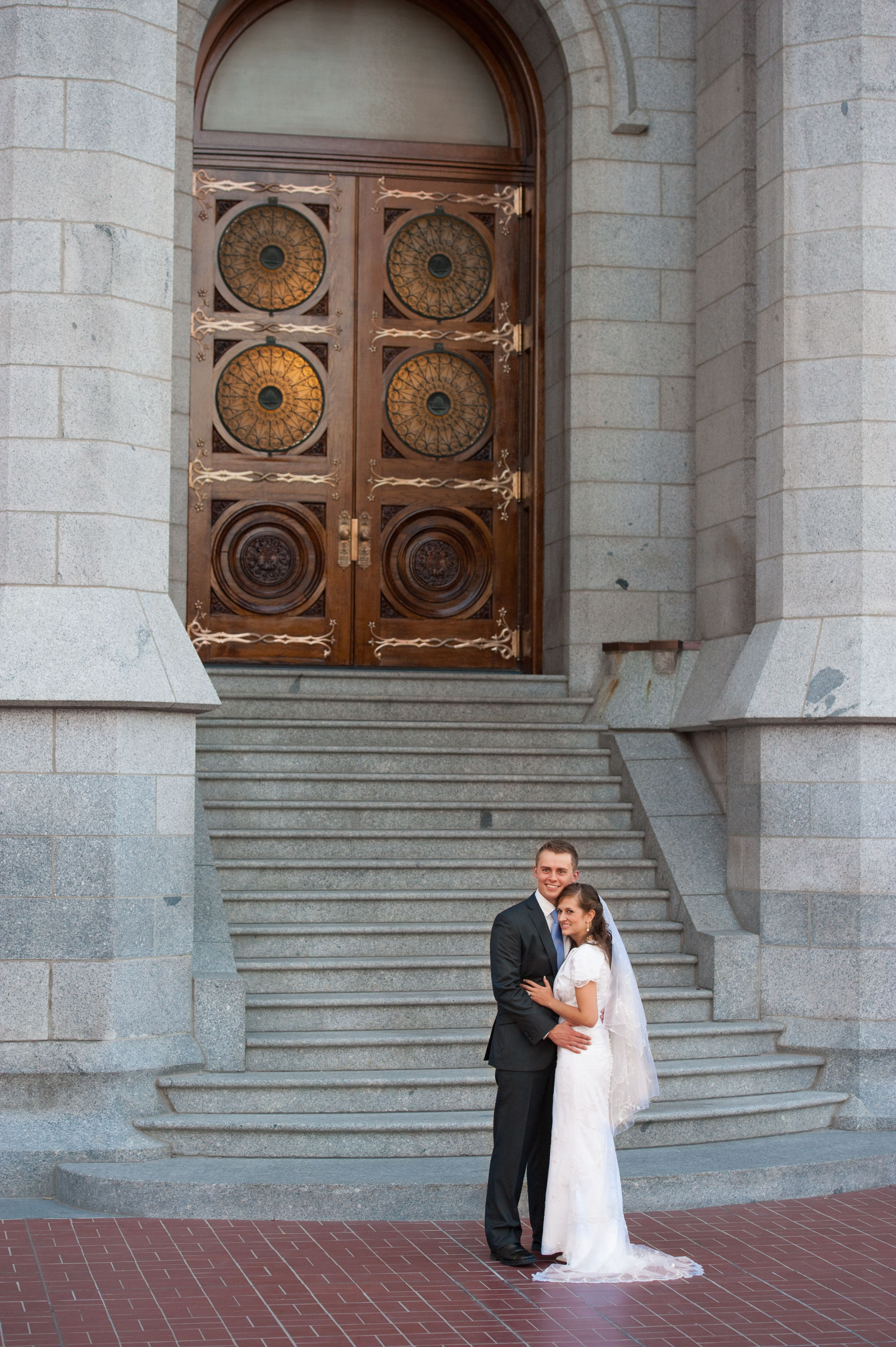 Light up wedding dress  Salt Lake Temple at Dusk Perfection The lights become lit up from