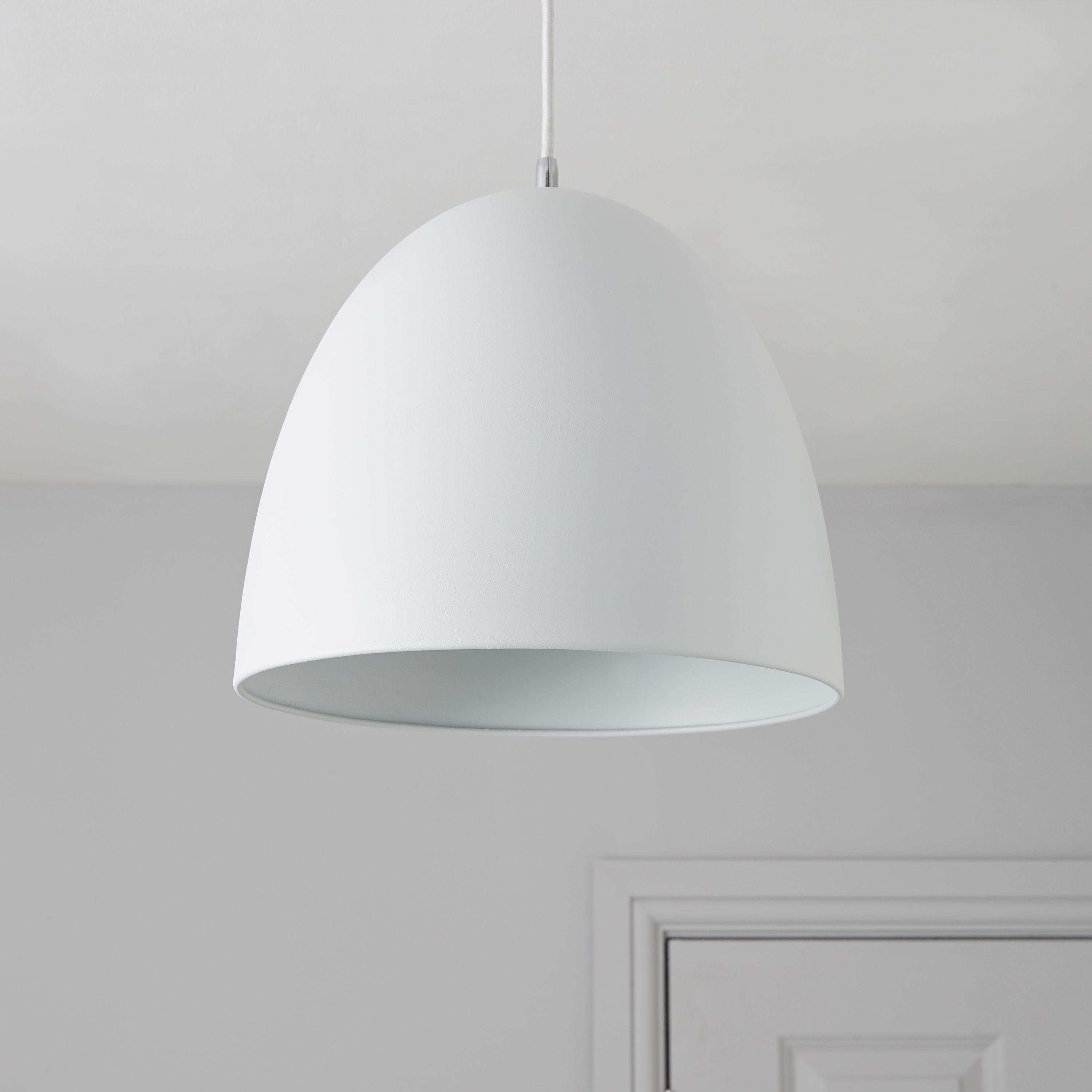 Bulyon Dome White Pendant Ceiling Light - Departments - Diy
