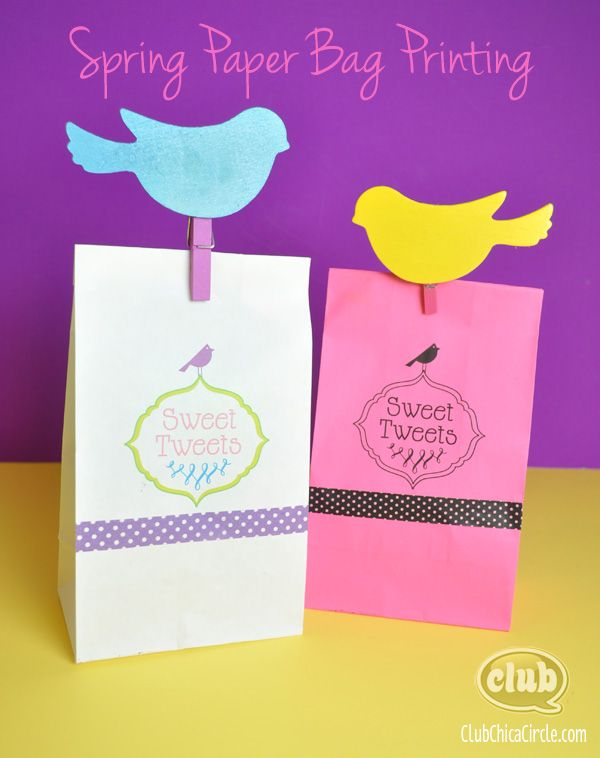 Paper bag printing easter ideas pinterest paper bag printing spring and easter paper bag printing ideas with free printables club chica circle where crafty is contagious negle Gallery
