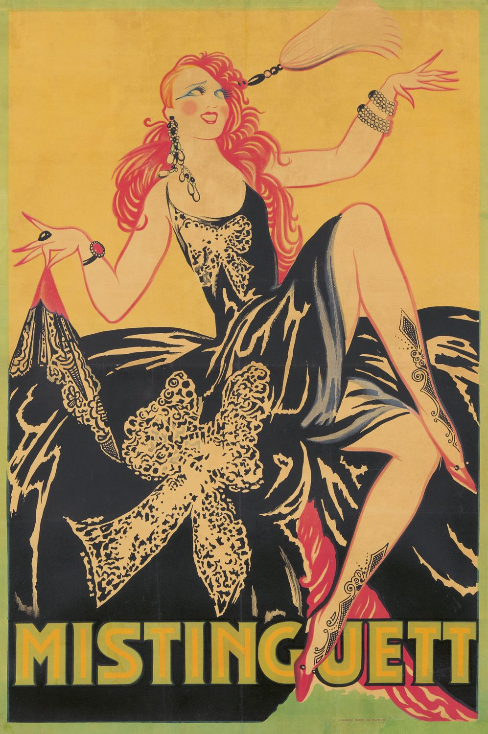 Poster design 1920s - Vintage Everyday 20 Beautiful Vintage Posters Of Sexy Parisian Cabaret Dancer Mistinguett From The 1920s