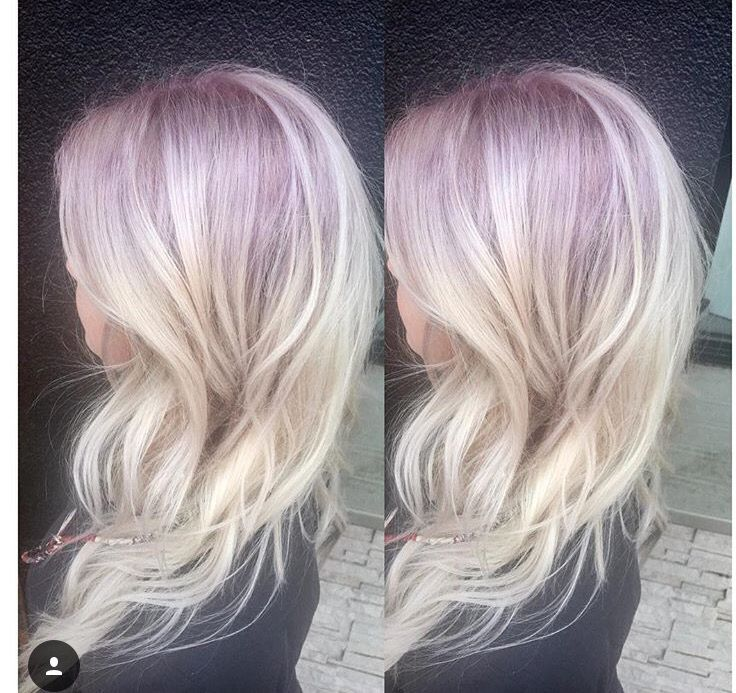 Lavender Roots Fading Into A Beautiful Ice Blonde Colorado