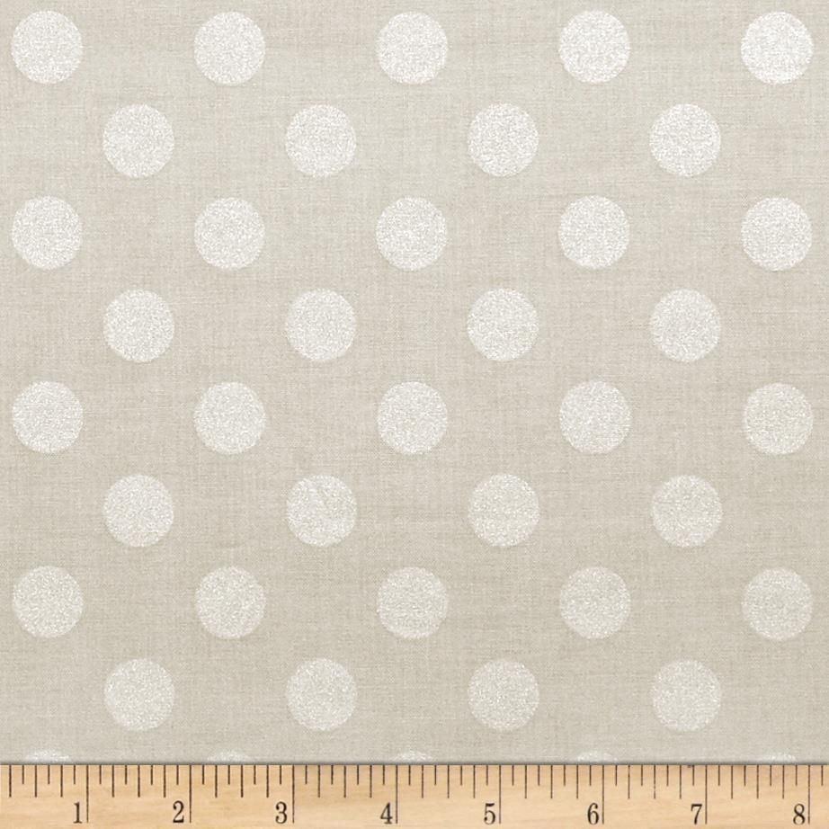 Riley Blake Hollywood Sparkle Medium Dot Grey from @fabricdotcom  Designed by RBD Designers for Riley Blake, this cotton print features lustrous metallic foil printed onto cotton fabric.  This fabric is perfect for quilting, apparel and home decor accents.  Colors include metallic silver on grey.