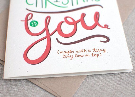 Funny Christmas Card, Couples - All I Want for Christmas is You With
