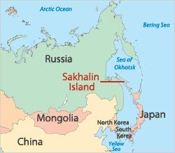 map of russia highlighting sakhalin islands - back to russia for me ...