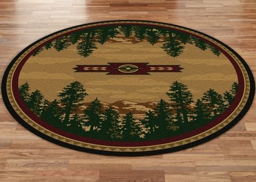 Autumn Mountains 8' Round Rug