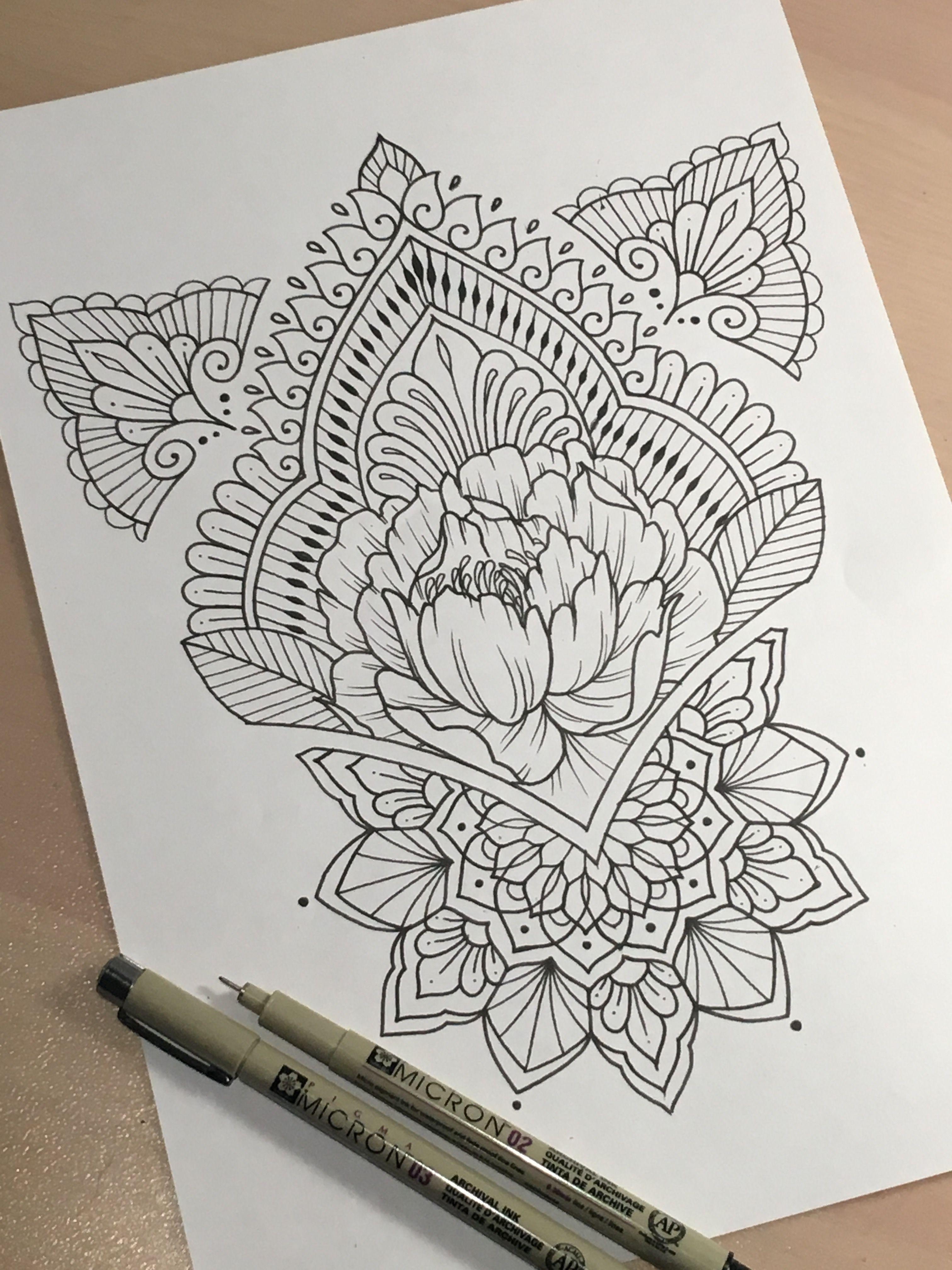 henna inspired tattoo flash dessin tatuaje geom trico. Black Bedroom Furniture Sets. Home Design Ideas