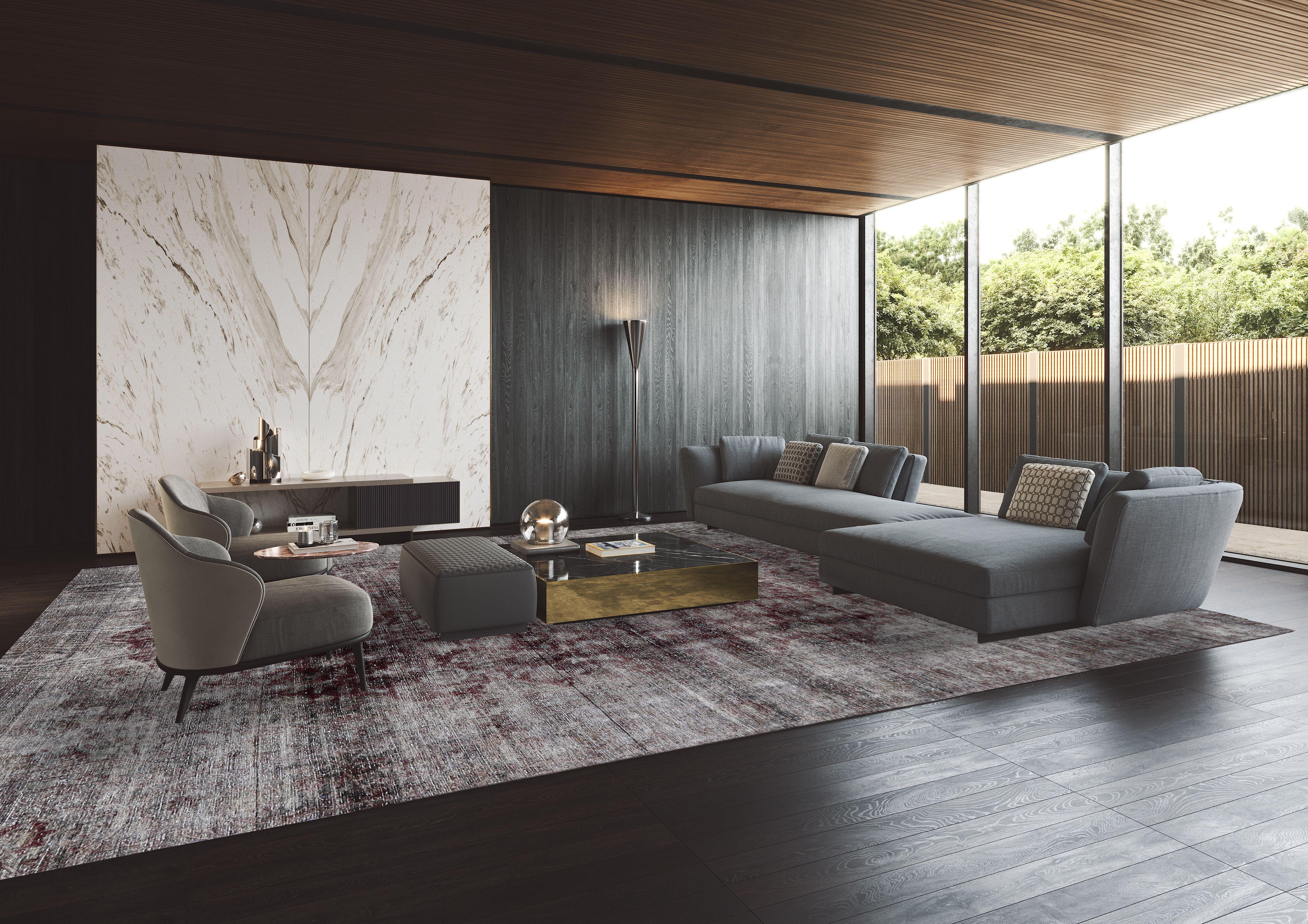 Vinatge Teppich Grau in 8  Wohnzimmer modern, Wohnzimmer