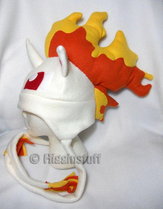 Pokemon Inspired Rapidash Fleece Hat MADE TO ORDER por Higginstuff ...